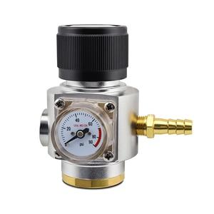 Image 3 - Soda CO2 Mini Gas Regulator T21*4 Thread CO2 Charger Kit 0 90 PSI Cornelius keg charger for European Draft Beer Kegerator