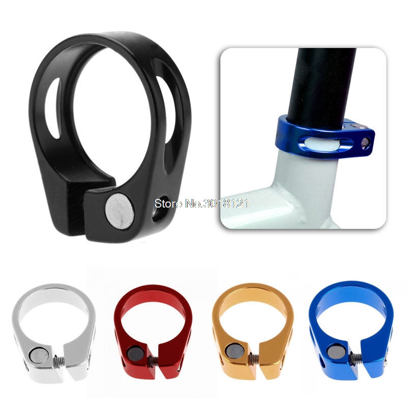 Bike Bicycle Cycling Saddle Seat Post Clamp Quick Release Seatpost Clamp Bicycle Parts
