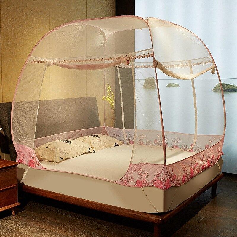 Venta caliente de la cremallera cuadrado mosquitera tres puertas mosquiteras de cama con dosel - Mosquiteras para cama ...
