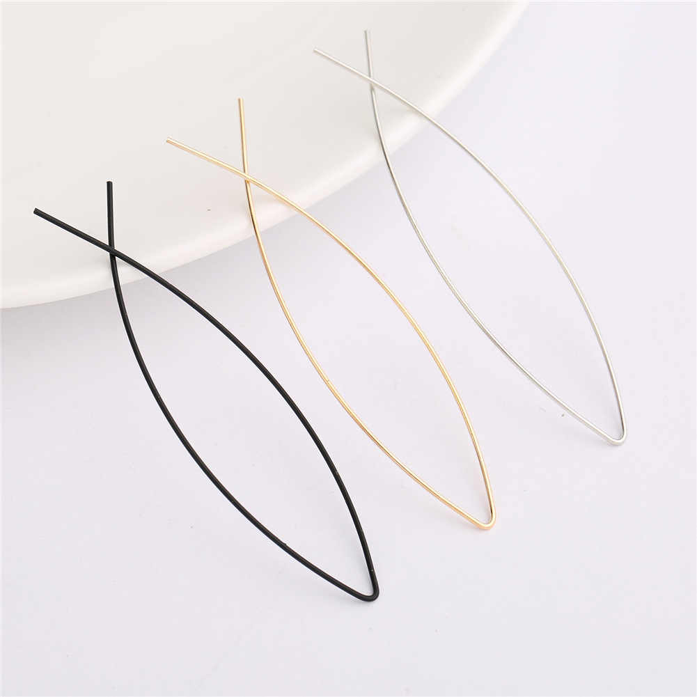 Fashion Jewelry Simple Bohemian Earrings Fish Shaped Design Copper Wire Circle Earrings Jewelry Earrings Womens Elegant Earrings