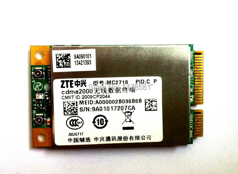 ZTE MC2716 Mini PCI-E EVDO CDMA Rev.A Communication Moudle 3G Card