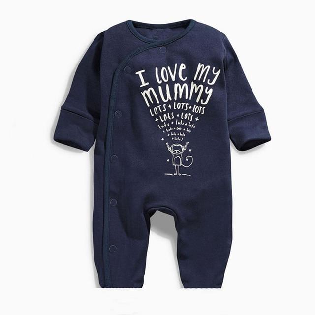 e3f5404fa74c Baby Rompers 2018 Baby Boys Clothes Newborn I Love My Mummy   Daddy ...