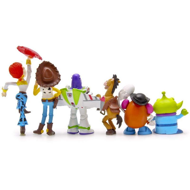 6 unids set Toy Story 3 figuras de acción Buzz Lightyear Woody Jessie Green  hombres PVC figura de acción Juguetes muñeca colección modelo juguete en  Acción ... ad91b97d756