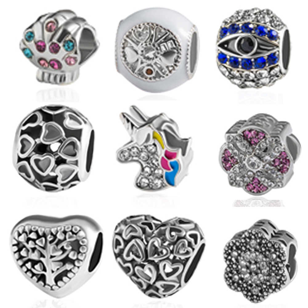 high quality European charms beads orginal beads fit pandora bracelet jewelry accessories beads making diy jewelry micro pave cz