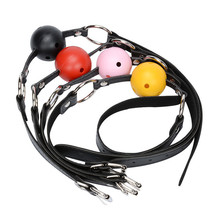 Open Mouth Gag Ball Bondage Restraints Adult Silicone Ball Fixation Fetish Sex Erotic Toys Games For Women/Couples Sexy Products silicone leather dragging mouth mouth stuffed ball adult game restraints flirting sex toys for couples erotic bondage
