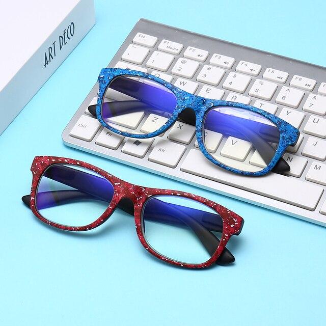 9363a1ab30246 Retro Anti-blu-ray Mulheres Óculos de Leitura Óculos de Lente Clara Anti Luz