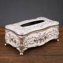 Европейская коробка для салфеток, Высококачественная книга для гостиной, дома, простая коробка для салфеток, роскошная коробка для хранения туалетной бумаги