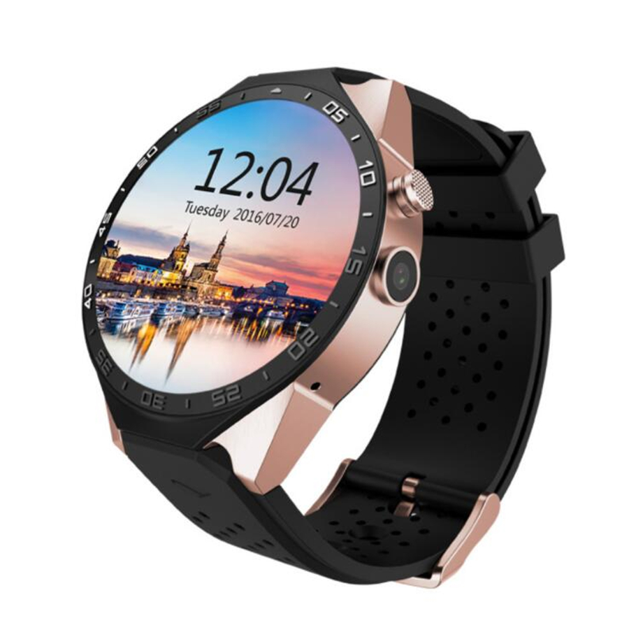 New Android KW88 1.39 inch high-definition screen wifi 3G GPS MTK6580 quad-core 4G+512M heart rate Bluetooth sports smart watch