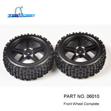 RC CAR SPARE PARTS FRONT WHEEL COMPLETE FOR HSP 1/10 NITRO BUGGY 9415, 94106 (part no. 06010)