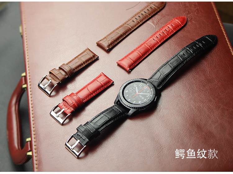 strap amazfit 1 2s pace bip for <font><b>Samsung</b></font> Galaxy watch 42 <font><b>46mm</b></font> active Gear sport S2 S3 Ticwatch 1 2 E pro <font><b>leather</b></font> band image