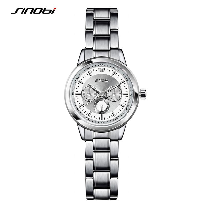 Prix pour SINOBI Femmes de Mode Acier Montres Femmes Femmes Antique Genève Quartz-montre Dames Marques Montre-Bracelet Relojes Mujer 2016 saat