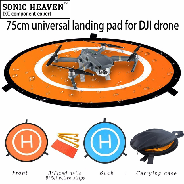 US $4 49 10% OFF|Universal Portable Parking Apron 75cm Fast fold Landing  Pad for Parrot Anafi DJI Phantom 3 4 Mavic 2 Pro / Air Drone DJI Spark-in
