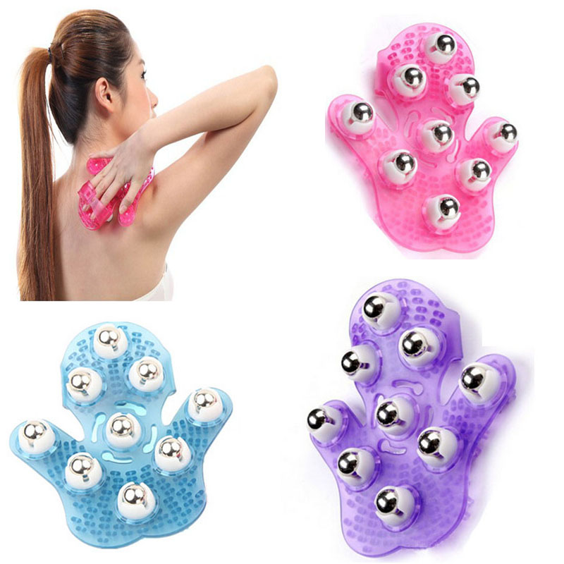 цена на 1Pcs Metal Rolling Nine Beads 360 degree Manual Hand Massager for body Care Glove hand massger lose weight slimming massager