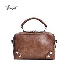 купить YBYT brand 2018 new simple women satchel fashion shopping bag joker leisure evening pack retro shoulder messenger crossbody bags по цене 1187.31 рублей