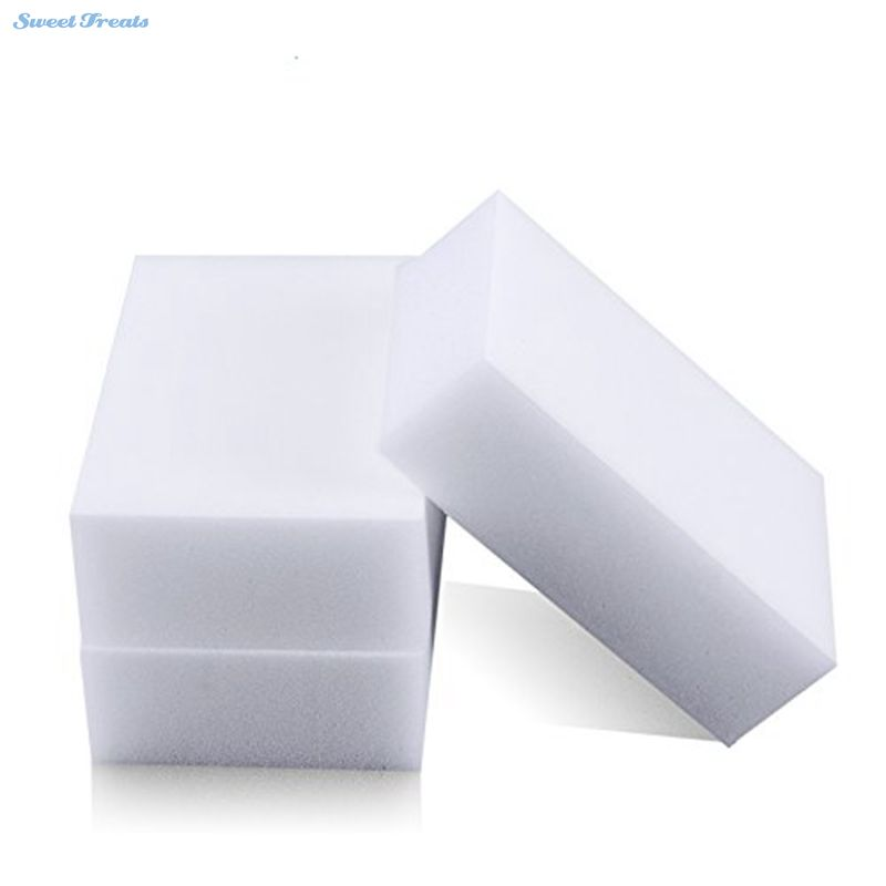 Sweettreats 100*60*20mm 100 Pcs Magic Sponge Eraser Kitchen Office Bathroom Clean Accessory
