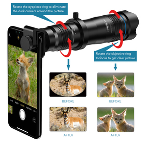 Image 3 - APEXEL Optic phone camera lens HD 28X metal telescope lens monocular with mini selfie tripod for iPhone 78 Xiaomi all Smartphone