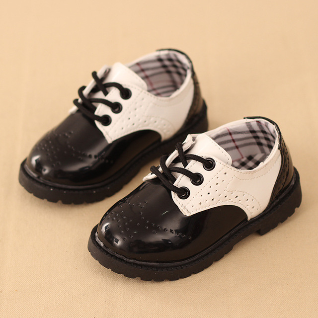 causal boys leather shoes classic European style PU leather shoes for 1-12yrs boys children kids party performance leather shoes