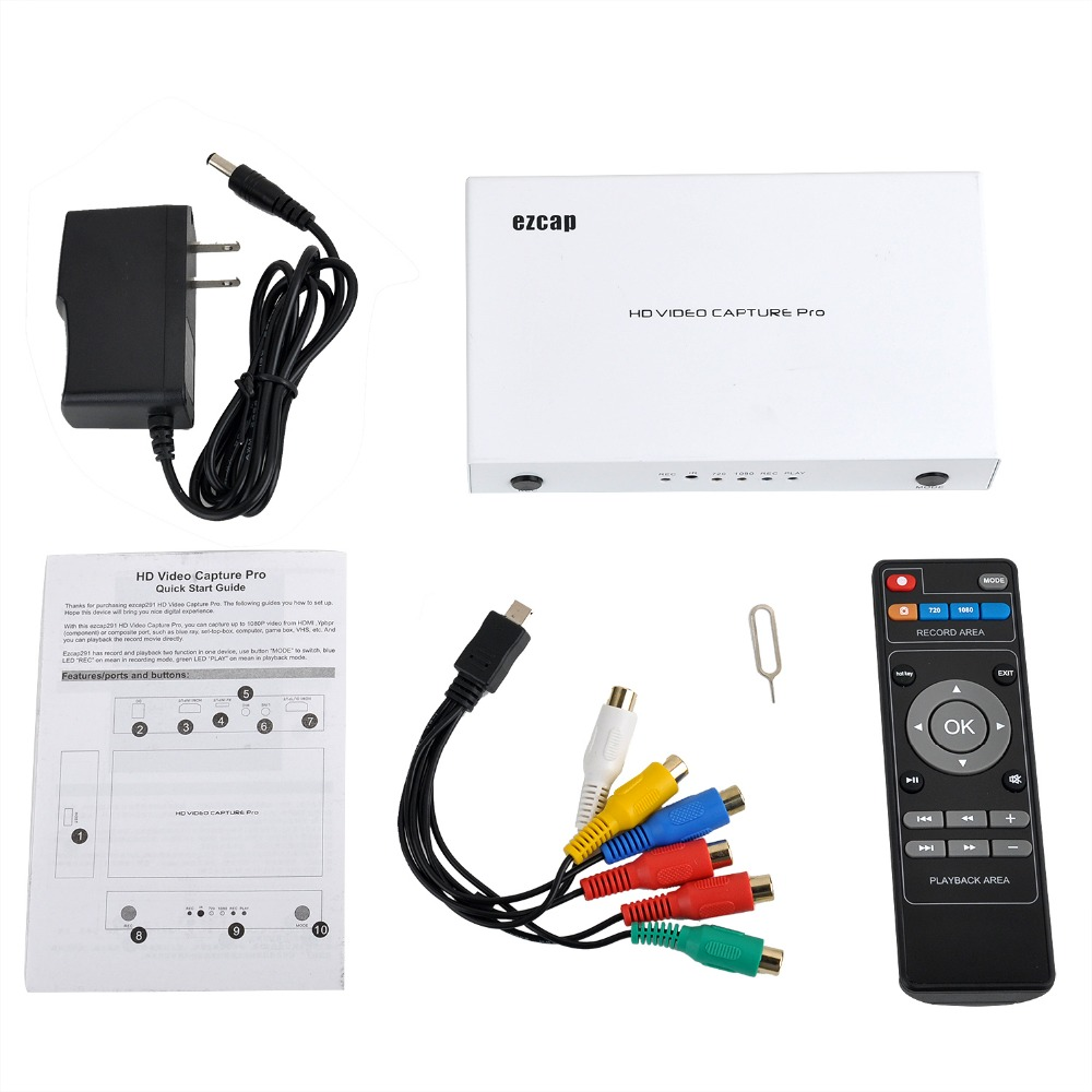 NEW Professional Pro 1080P HD Video Game Capture Box HDMI/YPpbr/CVBS  Recorder w/ Playback Decode For XBOX PS3 PS4 TV STB Medical
