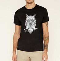 Fashion Men S Bodybuilding Tee Owl Graphics Print Cartoon Brand Clothing Streetwear Hip Hop Animal Pp