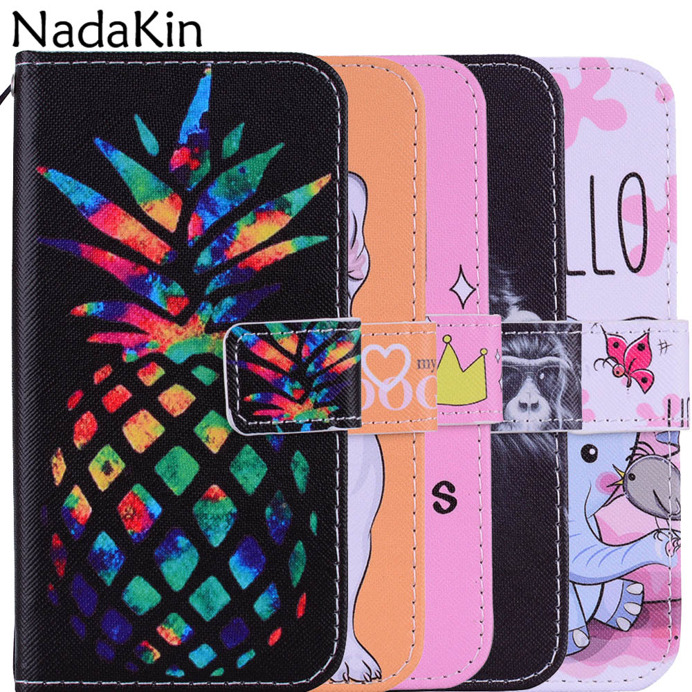 Lovely Painted Book Phone Case For Xiaomi Redmi 4X 5A 5 Plus Note 4 6 Pro Flip PU Leather Wallet Cover Shell With Strap