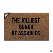 Funny Printed Doormat Entrance Floor Mat Door The Jolliest Bunch Of Assholes Designed Non-slip 23.6 by 15.7 In