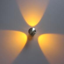 Modern 3W LED Wall Sconces AC85-265V Aluminum Round Bedside lights for Indoor Home Foyer Living room Lamp Arts Lighting все цены