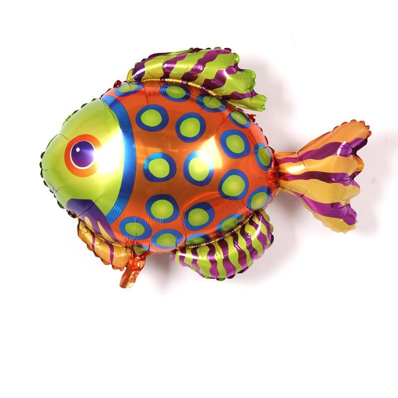 pclot peces tropicales ocano animal fish impreso papel de aluminio globo de la