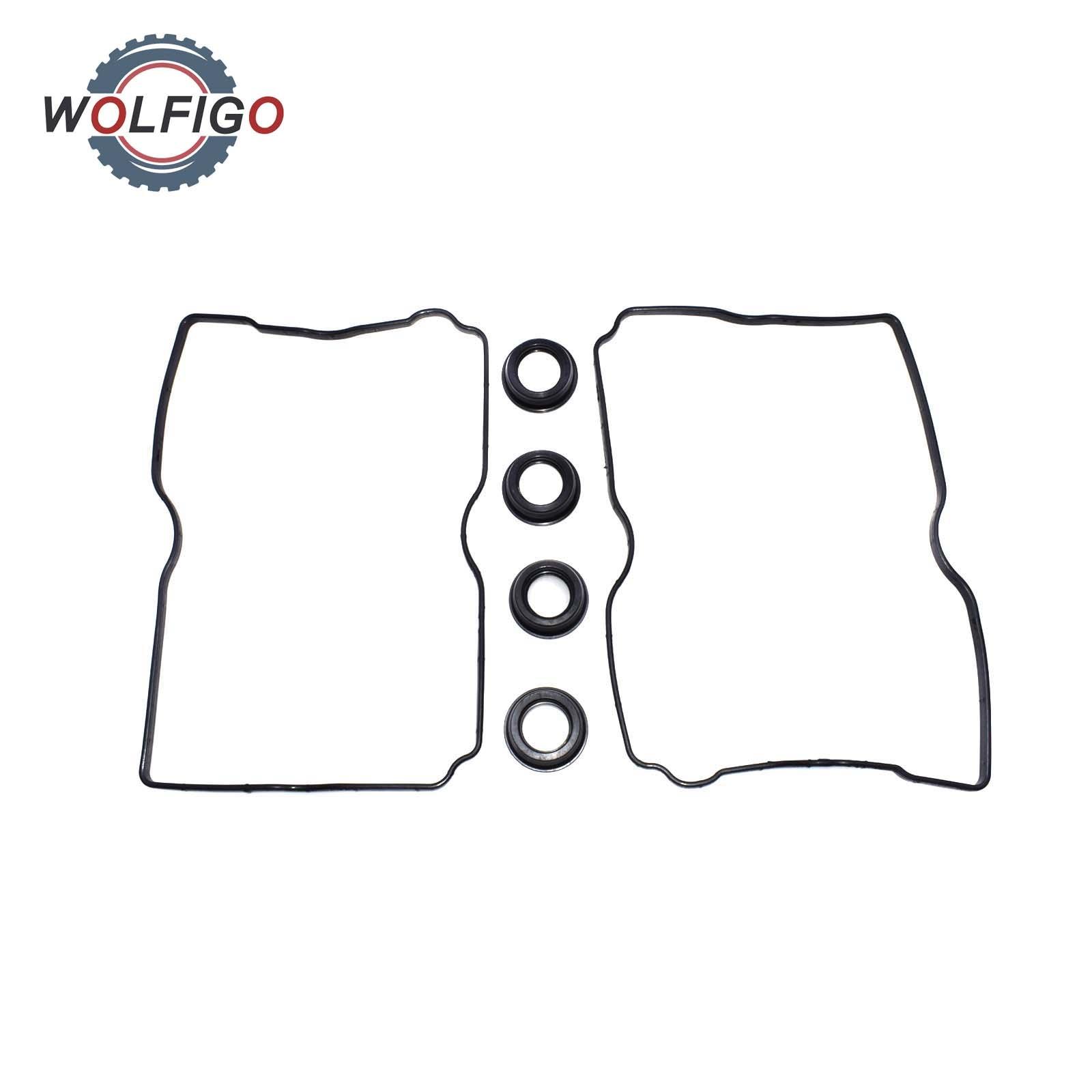 WOLFIGO Rocker Valve Cover Gasket & Spark Plug Seals For