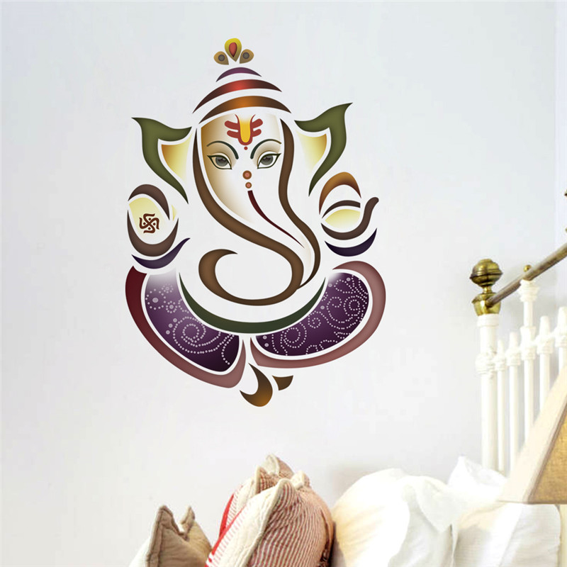 Wall Decals Ganesh Elephant Yoga Studio Decal Home Decor Vinyl Sticker Bedroom Living Room Decoration