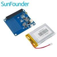 SunFounder Framboise UPS CHAPEAU Conseil pour Raspberry Pi 3 Modèle B, 2 Modèle B et Modèle B + avec 2500 mAh Batterie Au Lithium