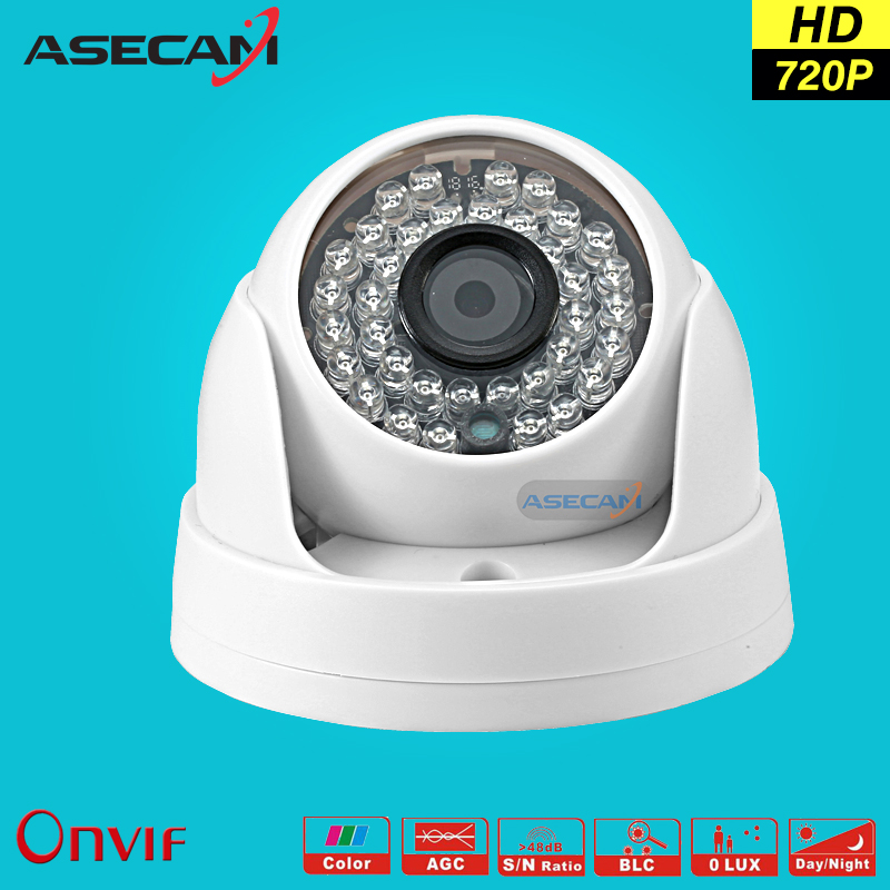 HD 720P IP Camera Onvif Black Indoor Dome WebCam CCTV 36led Infrared Night Vision Security Network Smart home poe Surveillance купить спортивную кожаную куртку женскую