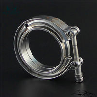 3'' V-Band Flange & Clamp Kit for Turbo Exhaust Downpipes Stainless Clamp
