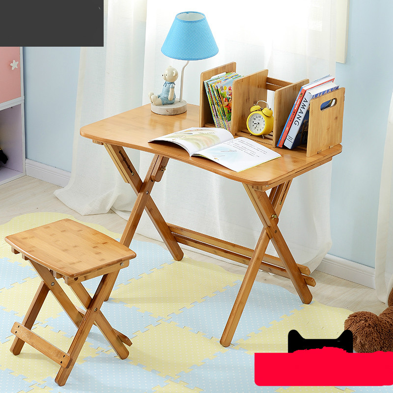 Multifunctional simple children's desk can lift the desk to learn folding desk furniture office table