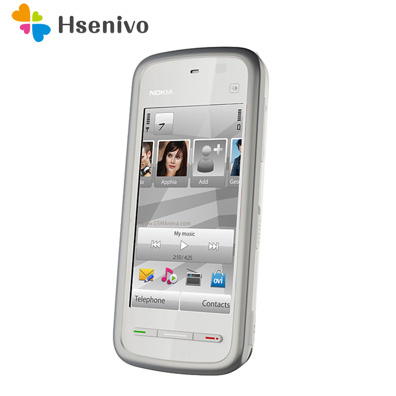 Original 5233 Unlocked Nokia 5233 mobile phone black and white color for you choose Refurbished