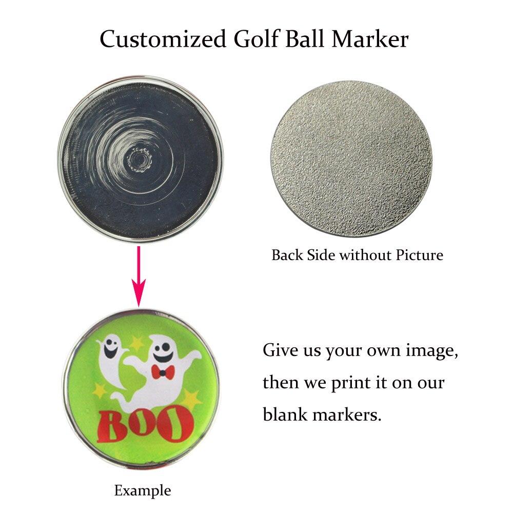 20pcs customized logo personalized golf ball markers