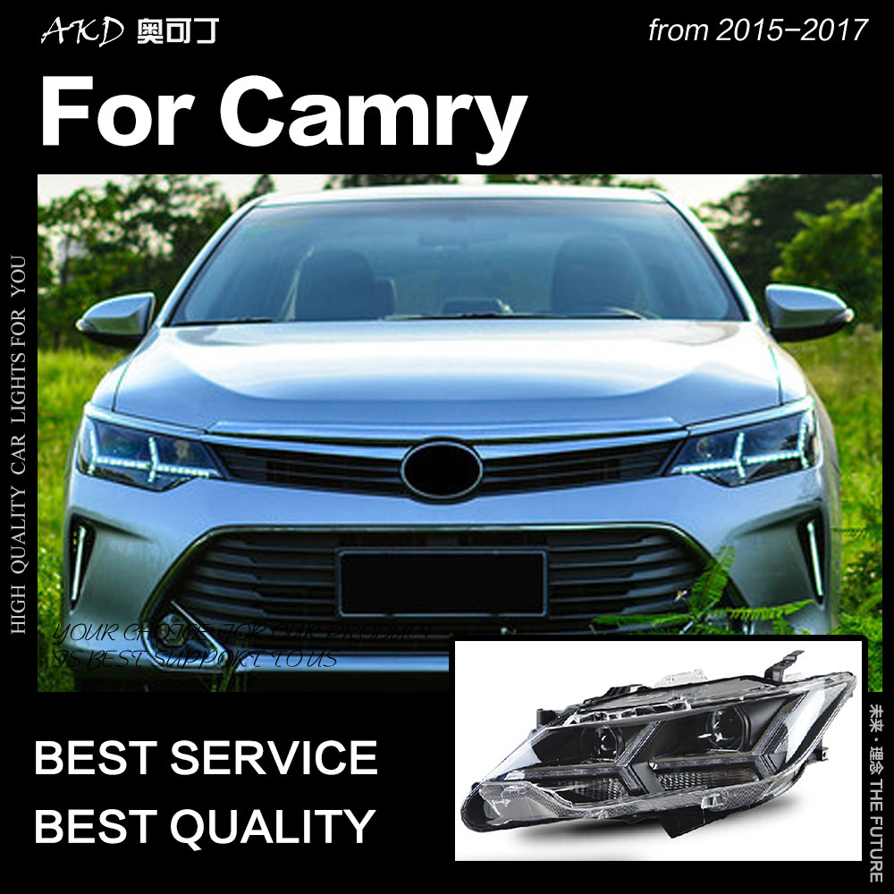 Akd Car Styling For Toyota Camry V55 Led Headlight 2017 New Drl Hid Head Lamp Angel Eye Bi Xenon Accessories In Light Embly From