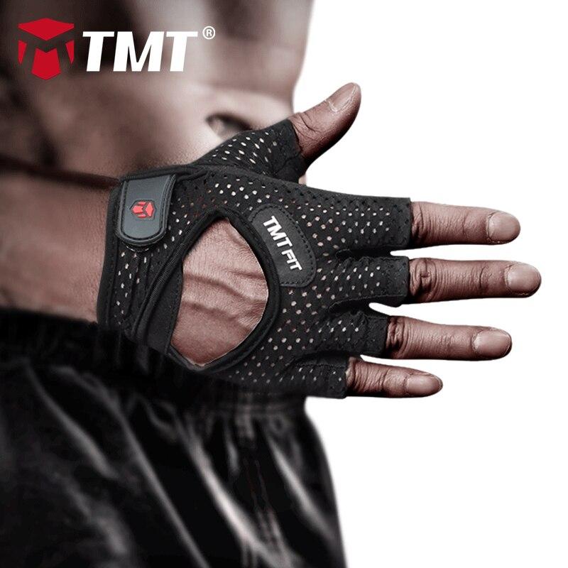 TMT כושר כפפות במשקל כבד ספורט תרגיל משקל הרמת כפפות לנשימה גוף בניין אימון ספורט כושר כפפות