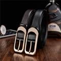 The new men's leather belt belt buckle copper needle head soft skin longer belt