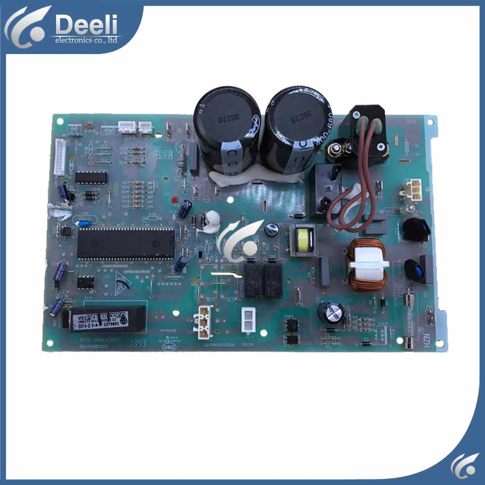 Good working for Frequency conversion air conditioner mainboard computer board 0010400373 KFR-26W KFR-28W/BPJF for frequency washing machine conversion computer board 302430600025 used baord good working