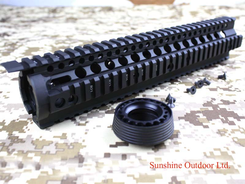 New Separable Quick installation  Metal Picatinny rail system tactical handguard Rail system for AEG/M4 BK-free shipping ak 47 tactical quad rail picatinny handguard system cnc aluminum full length tactical for ak rifles 26cm hunting gun accessories