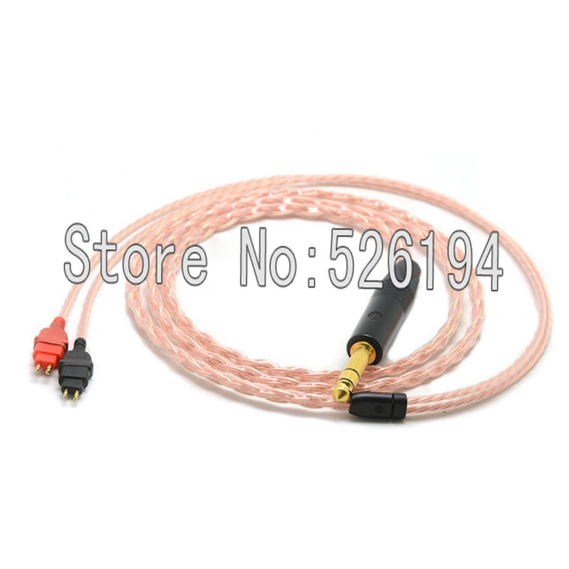Free shipping 2m 5N OFC pure copper for Hd580 Hd600 Hd650 Hd25 Headphone Cable Silver Plated Upgrade Cable free shipping 1 2m pieces ofc silver plated headphone cable for hd580 hd600 hd650 headphone