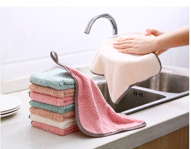 1pcs Kitchen Rag Microfiber Cleaning Cloth Hangable Dish Towel Dish Cloth tableware Household Cleaning Towel (2)