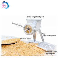 Small manual fish shrimp poultry bird chicken dog feed pellet making machine mini hand animal food extruder processing machinery