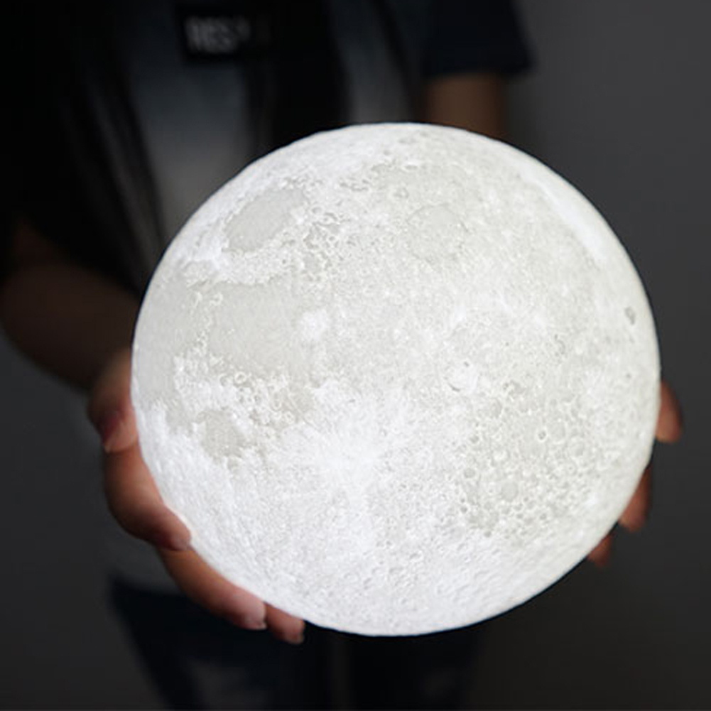 3D Moon Lamp Rechargeable Color Changing LED Moonlight Touch Sensor USB Charging Night Light Desk Home Bedroom Decoration 3d print moonlight moonlight lamp led lamp light sensor moonlight moonlight lamp