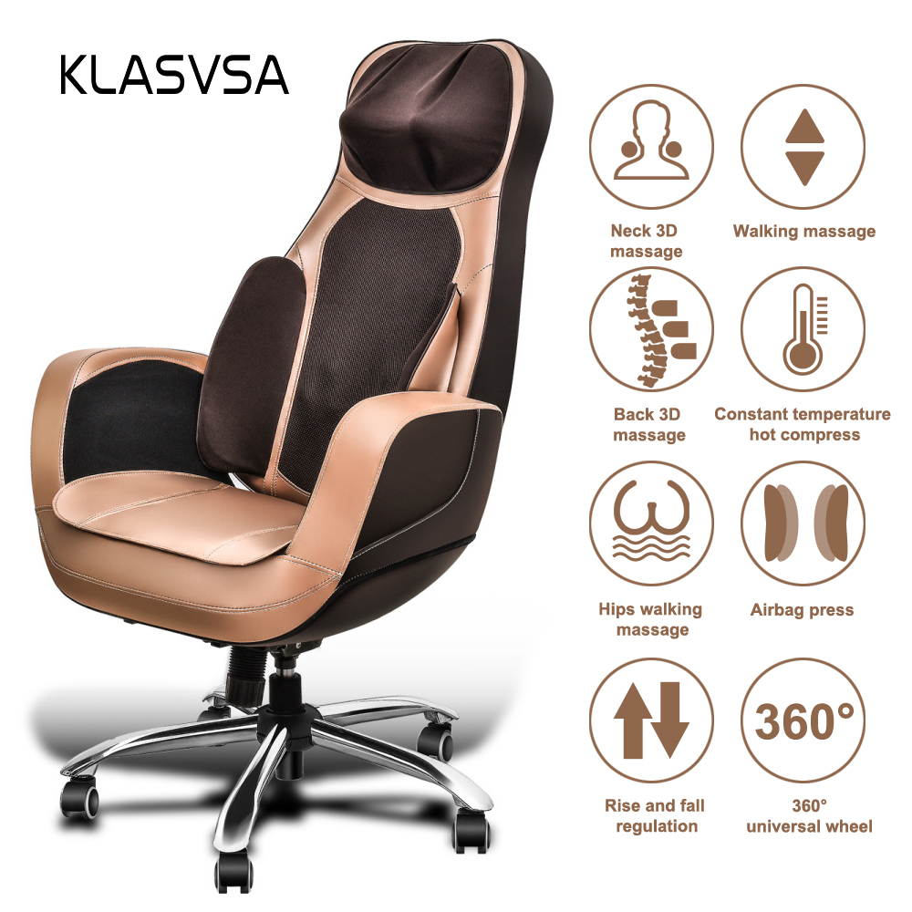 Office Chair Massager Us 568 Klasvsa Electric Heating Kneading Shiatsu Massager Chair Office Airbag Mattress Neck Pillow Back Waist Roller Muscle Relaxtion In Massage