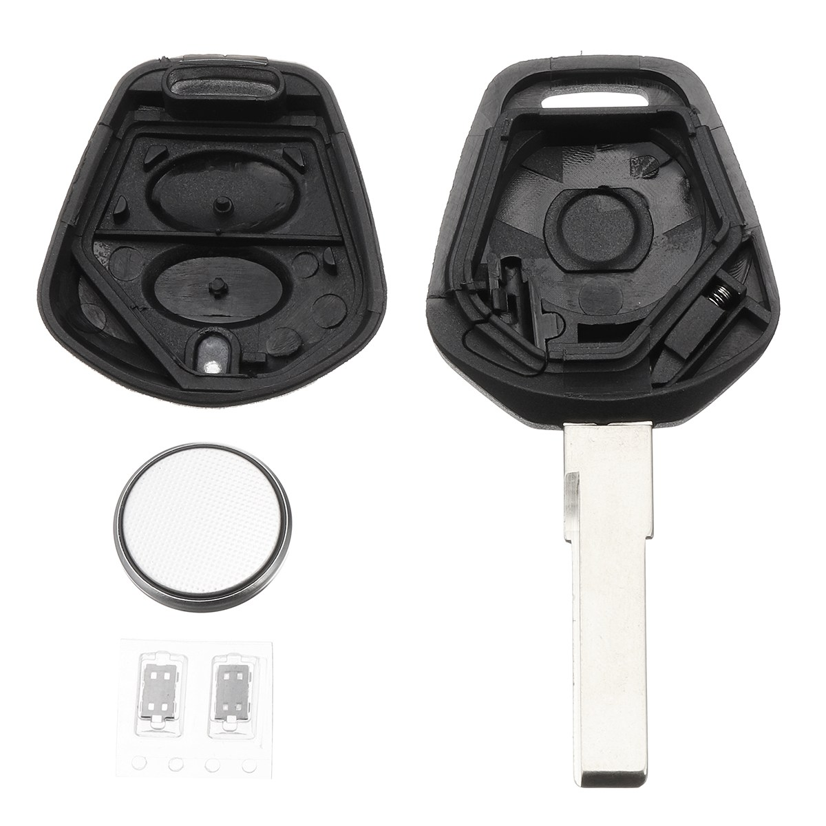 2 Buttons Lock Unlock Car Remote Fob Key Case Shell With CR2032 Battery For Porsche 911 996 Boxster S 986