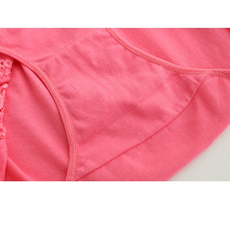 sales promotion new arrived 201 underwear solid girls lace cotton young girl panties 5pc/lot Teenage Intimates briefs   L,XL,XXL 4
