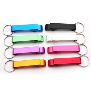 Image 2 - En gros 100 pièces personnalisé gravure texte Logo décapsuleur chien Tag porte clés porte clés personnalisé cadeau de mariage