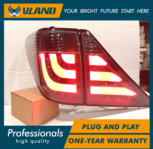 Free shipping Vland Car Lamp for Toyota Alphard 20' LED Taillights for Vellfire LED Light Bar DRL MPV Taillamp fit 2007-2014 free shipping vland car lamp for toyota