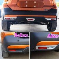 Car ABS Chrome Exterior Rear Fog Light Lamp Cover Trim Frame Decoration Fit For Nissan Kicks